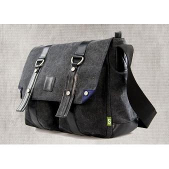 black stylish shoulder bag