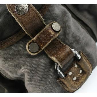 grey Distressed messenger bag