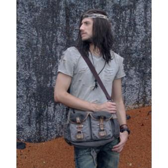 mens Distressed messenger bag