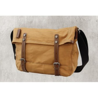 canvas shoulder bag for men