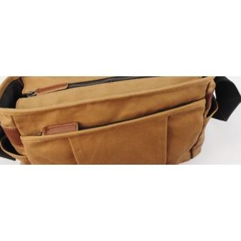 canvas fabric shoulder bag