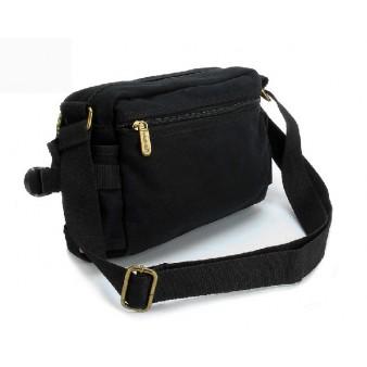 black Canvas shoulder bags for women