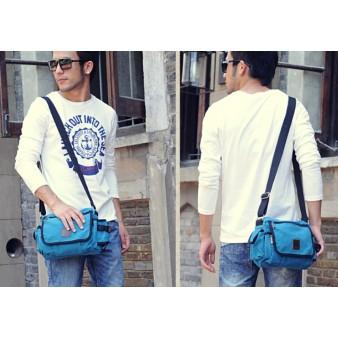 blue Canvas shoulder bags for women