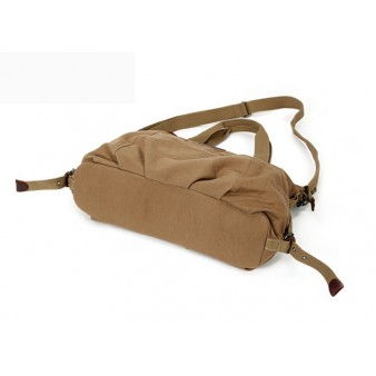 Canvas messenger bag khaki