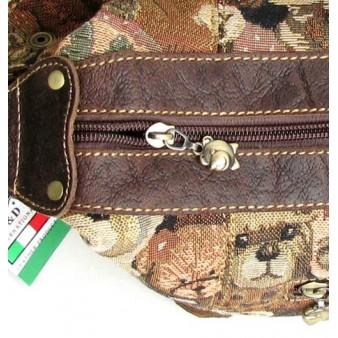 khaki funky messenger bag