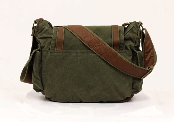 Cross Shoulder Bags Women Army Green Canvas Messenger
