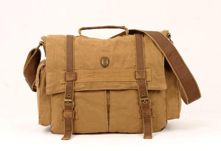 Cool messenger bag, canvas shoulder bag for men - UnusualBag