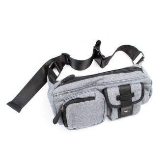 grey bicycle fanny pack