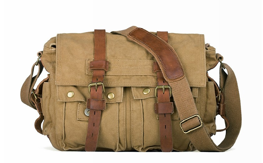 Cool shoulder bag, classic canvas messenger bag - UnusualBag