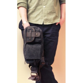 black bicycle fanny pack