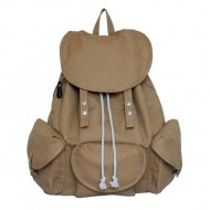 khaki Stylish backpack for women