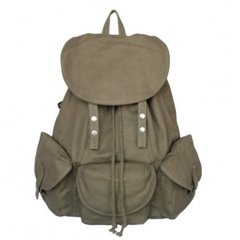army green Stylish backpack for women