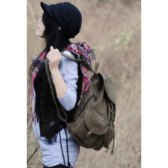 Stylish backpack army green