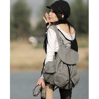grey sport backpack