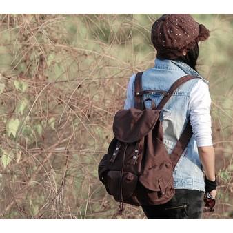 Stylish backpack coffee