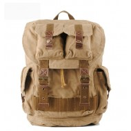 Large cotton canvas backpack