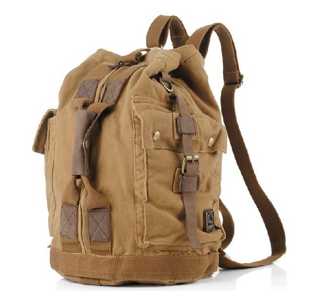 vintage canvas backpack backpacks with straps unusualbag. Black Bedroom Furniture Sets. Home Design Ideas