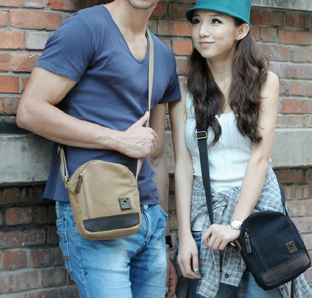 Canvas messenger bag for men, mens small canvas shoulder bag ...