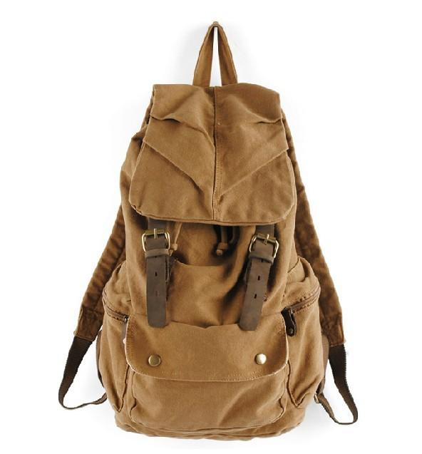 mens canvas rucksack vintage canvas knapsack unusualbag