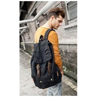 Mens canvas rucksack vintage, canvas knapsack - UnusualBag