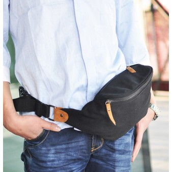 mens canvas fanny pack