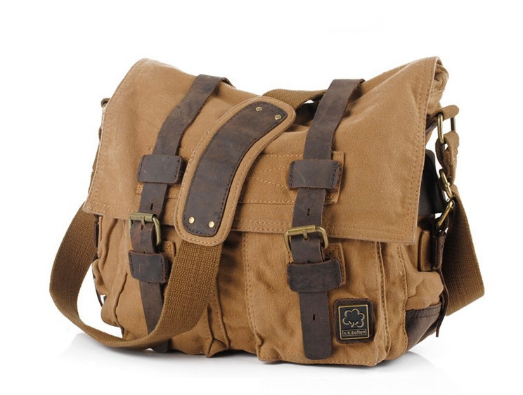 Canvas shoulder bags, canvas messenger bag men - UnusualBag e0e5e85624