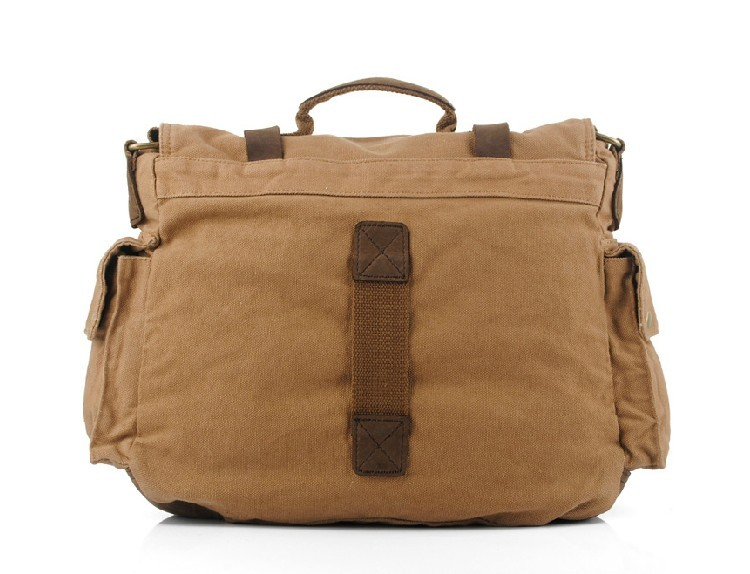Mens messenger bag canvas, organizer shoulder bag - UnusualBag