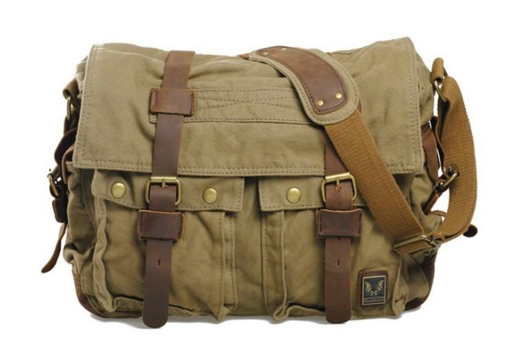 6e94fab930a2 ... mens big shoulder bag; army green Canvas messenger bag ...