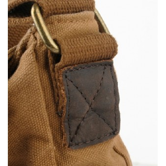khaki vintage canvas messenger bags for men