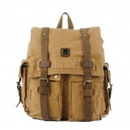 Canvas rucksack backpack for men