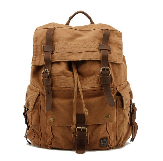 Canvas backpacks outdoor backpack unusualbag for Outdoor rucksack