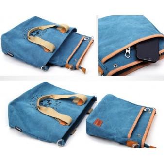 Canvas satchel bag