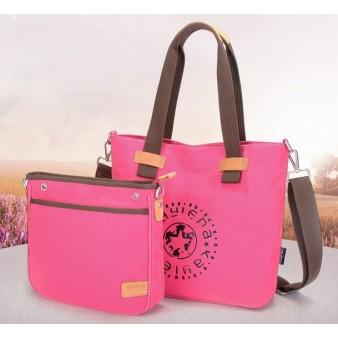 rose Canvas satchel bags for women