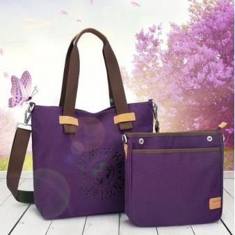 purple Canvas satchel bags for women