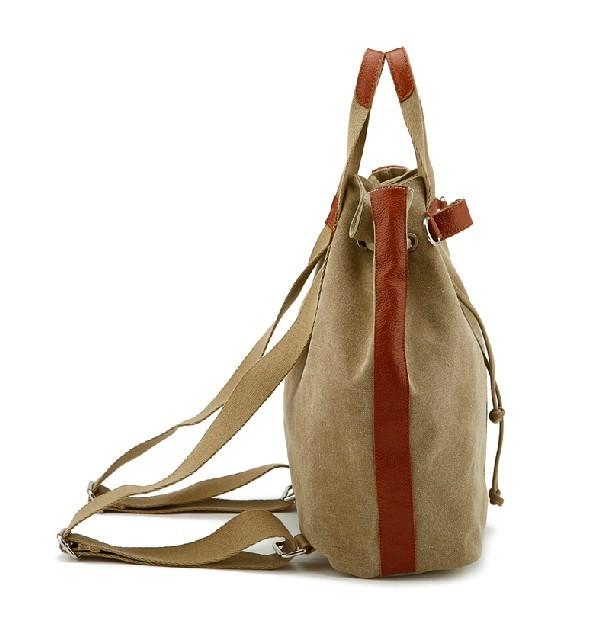 Khaki Backpack Shoulder Bag