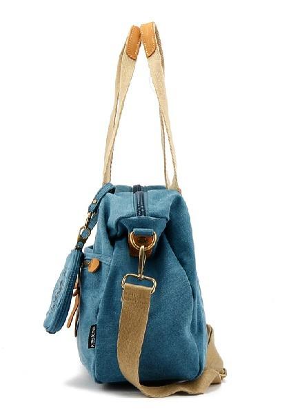 da177e1d08d2 Messenger bags for women  ladies canvas shoulder bags  blue ...