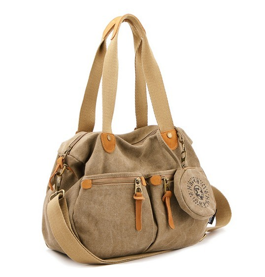 ... women  khaki ladies canvas shoulder bags 389894d76