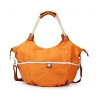 Canvas messenger bag women, canvas shoulder bag schoolbag