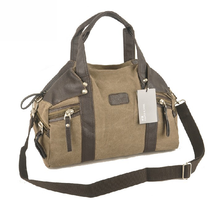 Mens canvas shoulder bag, school handbags