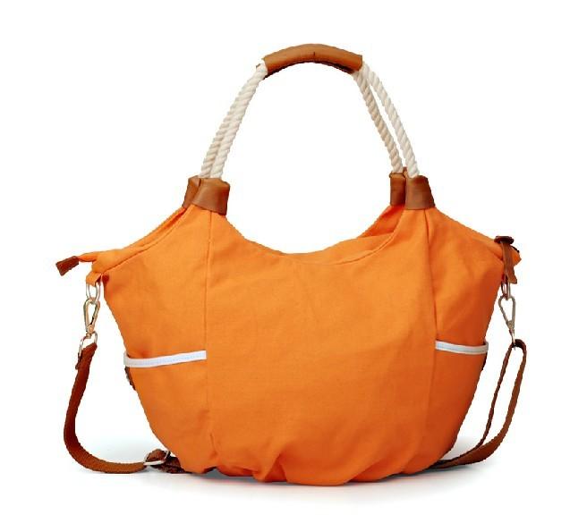 Canvas messenger bag women, canvas shoulder bag schoolbag - UnusualBag