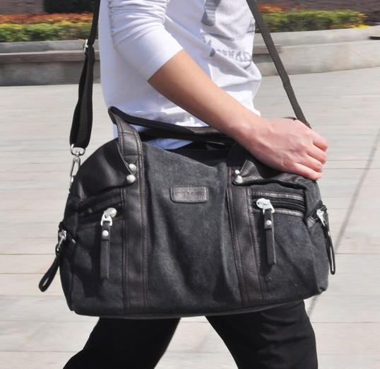 Mens canvas shoulder bag, school handbags - UnusualBag
