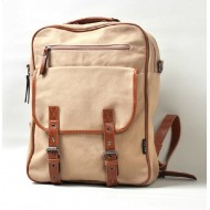 Canvas school backpack, daypack backpack