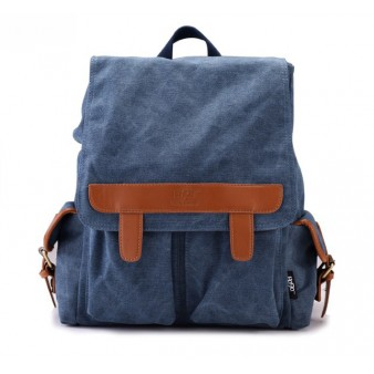 Backpack for laptop, canvas notebook PC bag