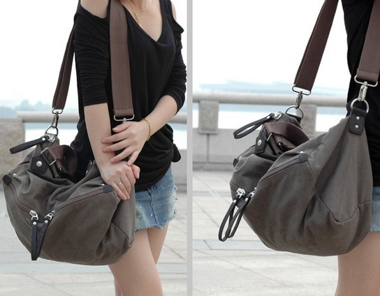Coffee Large Over The Shoulder Bag