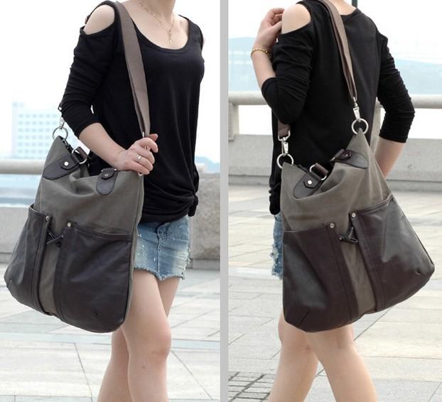 Canvas messenger bag, shoulder bags for girls - UnusualBag
