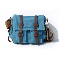 Canvas messenger bag natural, mens shoulder bag
