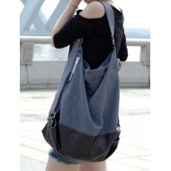 Black canvas bag, canvas handbag