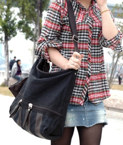 ... canvas big shoulder bag  black Over the shoulder hobo bag ... d170640ecd20