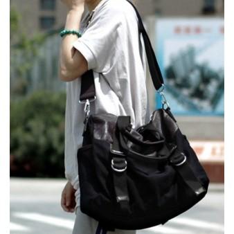 black Ladies canvas satchel bag
