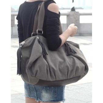 coffee across shoulder bag